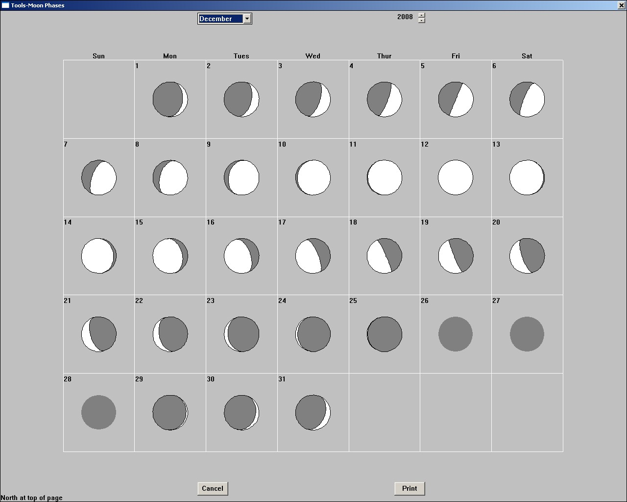 Moon Phases - 2008