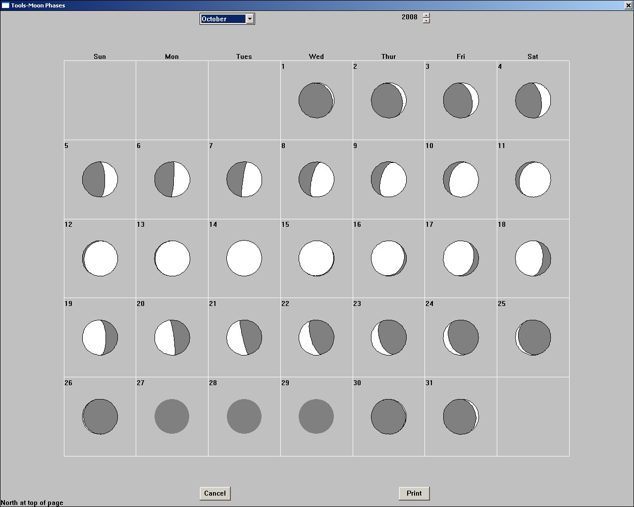 Moon Phases 2008 – Phases of the Moon Printable Worksheets